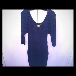 Catherine Malandrino Navy Blue knit dress, size S
